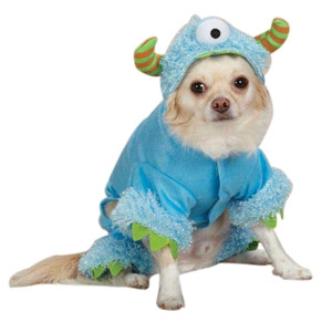 Casual Canine Halloween Blue Monster Med