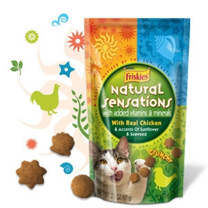 Friskies Natural Sensation Cat Treats With Chicken 3oz.