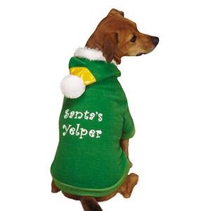 PetEdge Santa's Yelper Elf Hoodie- SM/MD