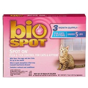 Bio Spot Spot On Topical Flea & Tick Control For Cats & Kittens