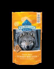 Blue Buffalo Wilderness Turkey Biscuit Dog 10OZ C=6