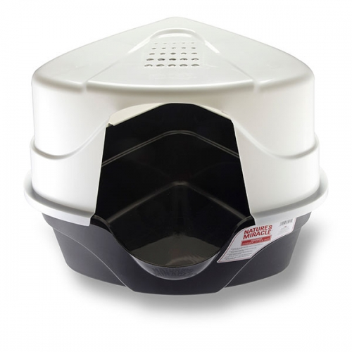 Nature's Miracle, Advanced Hooded Corner Litter Box
