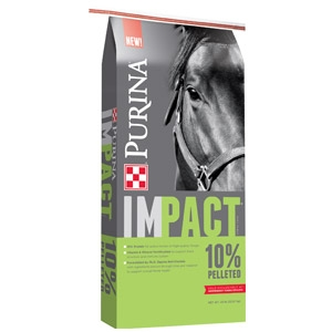 Purina® Impact® 10% Pelleted Horse Feed