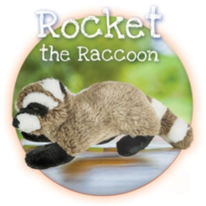 Fluff & Tuff® Rocket the Raccoon Large Dog Toy