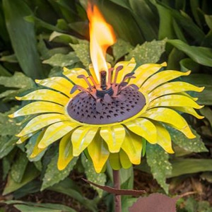 Desert Steel Sunflower Garden Torch