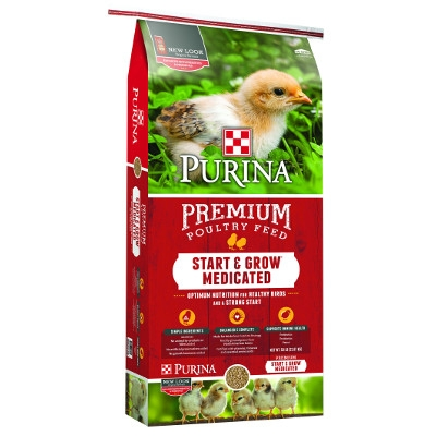 Purina® Start & Grow® AMP .0125, Medicated Chick Feed