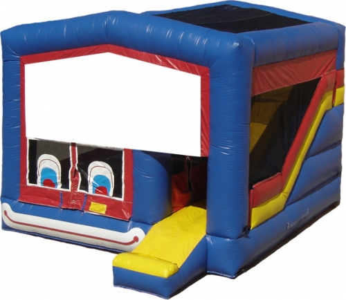 4-in-1 Clown Face Jump N' Slide