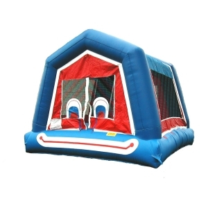Clown Face Moonwalk Bounce House