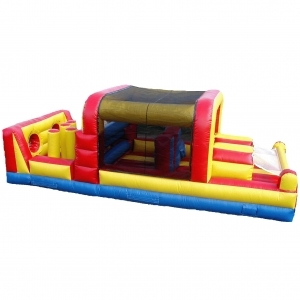 Spacewalk Mini-Obstacle Course, Inflatable Moonwalk Bounce
