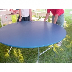 "Kwik-Covers  60"" Round Blue Tablecover"