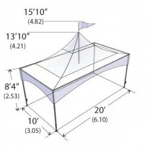 Warner Shelter Peak Marquee Tent 10' X 20'