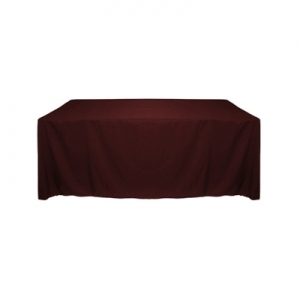 BURGUNDY POLYESTER TABLECLOTH 60X120""