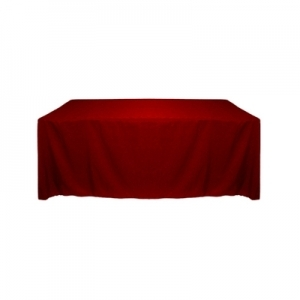 HOLIDAY RED POLYESTER TABLECLOTH 60X120""