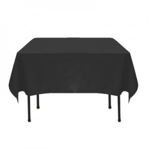 "Black Poly/Cotton Tablecloth 72""x72"""