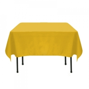 Gold Polyester Tablecloth 72