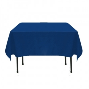 COLOR POLYESTER TABLECLOTH 72X72