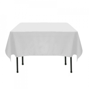 WHITE TABLECLOTH 72X72