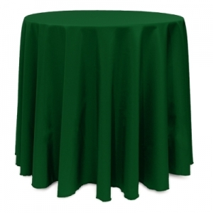 "HUNTER POLYESTER TABLECLOTH 90"" ROUND"