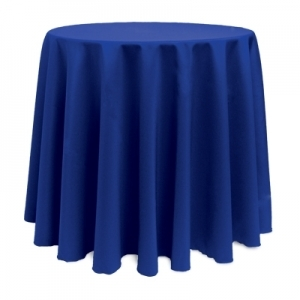 "ROYAL POLYESTER TABLECLOTH 90"" ROUND"