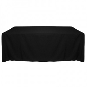 Black Polyester Tablecloth 90