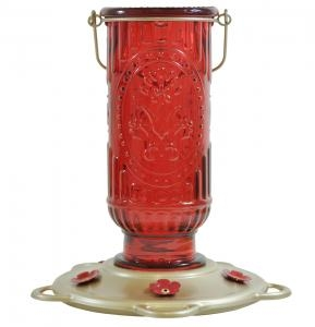 Classic Brands Red Vintage Hummingbird Feeder