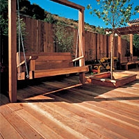 Redwood Decking