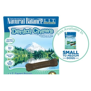Natural Balance Dental Chews L.I.T. Sweet Potato & Chicken Meal Formula