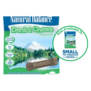 Natural Balance Dental Chews Clean Grooves Formula