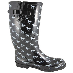 Smoky Mountain Boots Ponies Rubber Boot Black/White