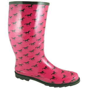 Smoky Mountain Boots Ponies Rubber Boot Pink