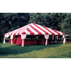 30 x 30 Fiesta Frame Tent - Red & White