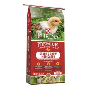 Purina Start & Grow Medicated Chick Starter with AMP .0125