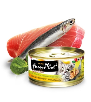 Fussie Cat Premium Tuna and Anchovies in Aspic Canned Cat Food