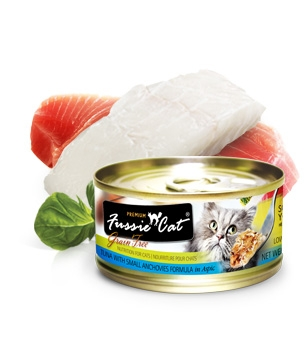 Fussie Cat Premium Tuna and Small Anchovies in Aspic Canned Cat Food