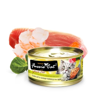 Fussie Cat Premium Tuna and Shrimp in Aspic Canned Cat Food
