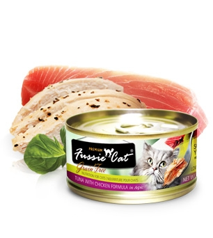 Fussie Cat Premium Tuna and Chicken in Aspic Canned Cat Food