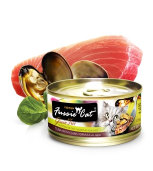Fussie Cat Premium Tuna With Clams in Aspic Canned Cat Food