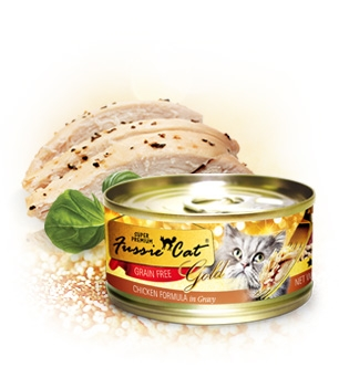 Fussie Cat Gold Chicken in Gravy Canned Cat Food