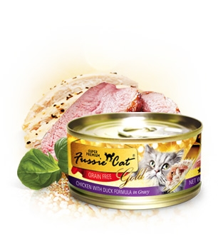 Fussie Cat Gold Chicken With Duck in Gravy Canned Cat Food