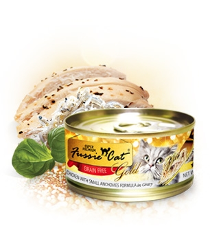 Fussie Cat Gold Chicken With Small Anchovies in Gravy Canned Cat Food