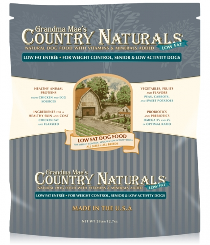Grandma Mae's Country Naturals Low-Fat Dog Food 4 lbs