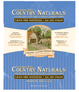 Grandma Mae's Country Naturals Grain Free Fish Formula Dog Food 28 lbs