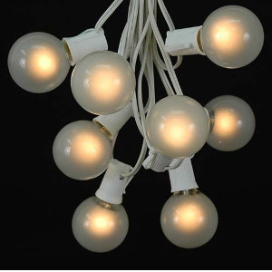 25 G50 Globe Light String Set with Frosted Bulbs Taylor Rental of Warren, RI