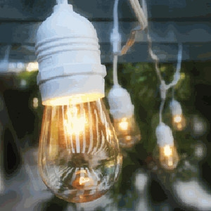 50' Heavy Duty Outdoor String Lights with Suspenders