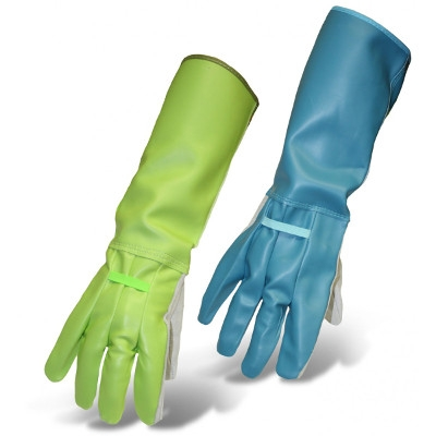 Thorn Gard Gloves - Men's & Ladies' Leather Palm Vinyl Back