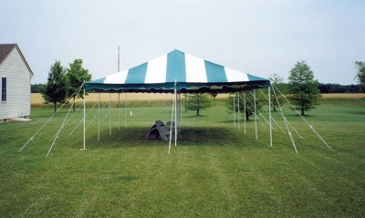 20 x 30Do It YourselfCanopy Tent - Green & White Striped