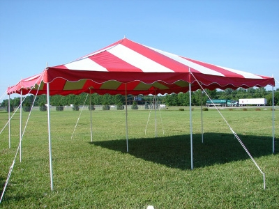 20 x 20Do It YourselfCanopy Tent - Red & White