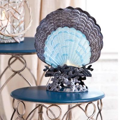 Cape Craftsmen Glass & Metal Scallop Shell Lamp