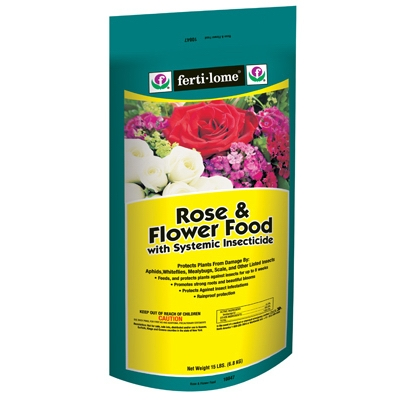 Fertilome Rose & Flower Food with Systemic Insecticide - 15 lbs.