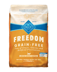 BLUE Freedom® Grain-Free Indoor Weight Control Chicken Recipe For Adult Cats- 11lbs